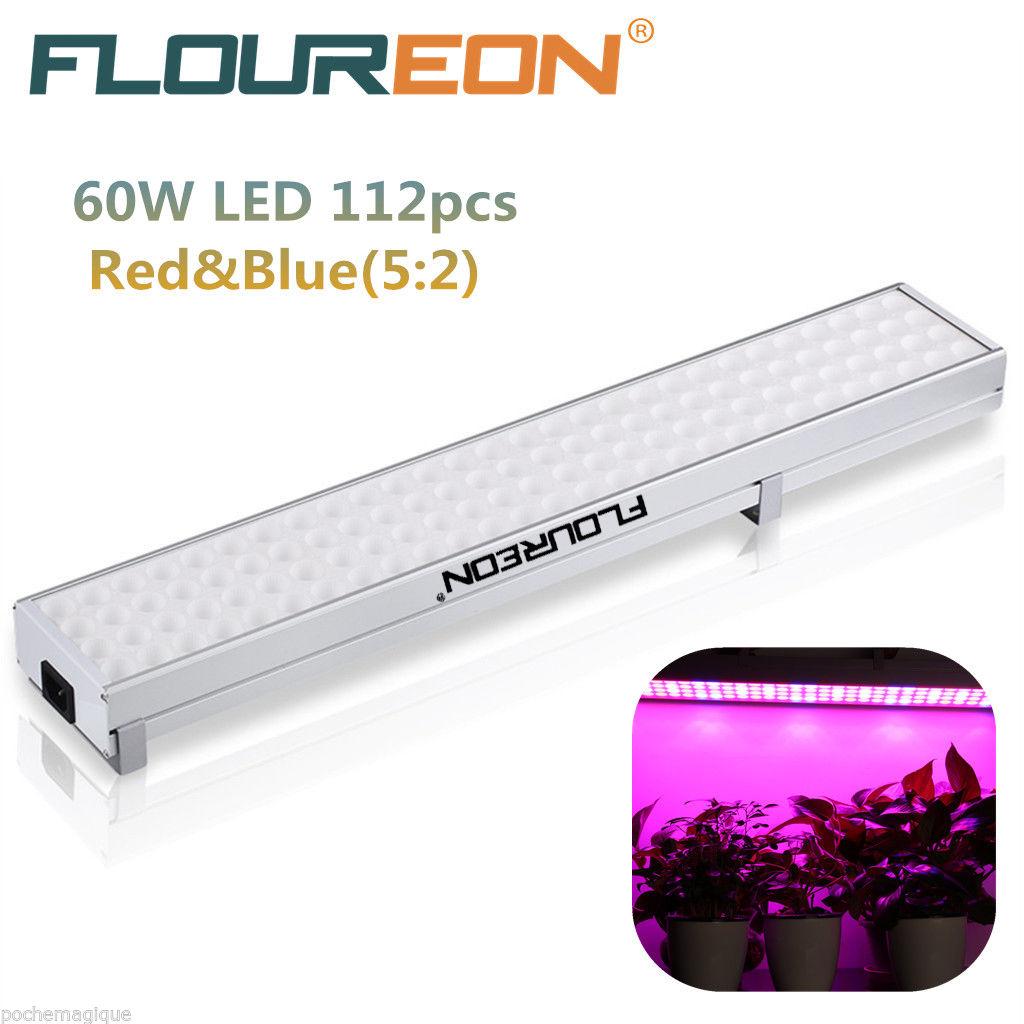 FLOUREON 60W LED Pflanzenlampe rot-blau mit 112 LEDs [Versand aus DE]
