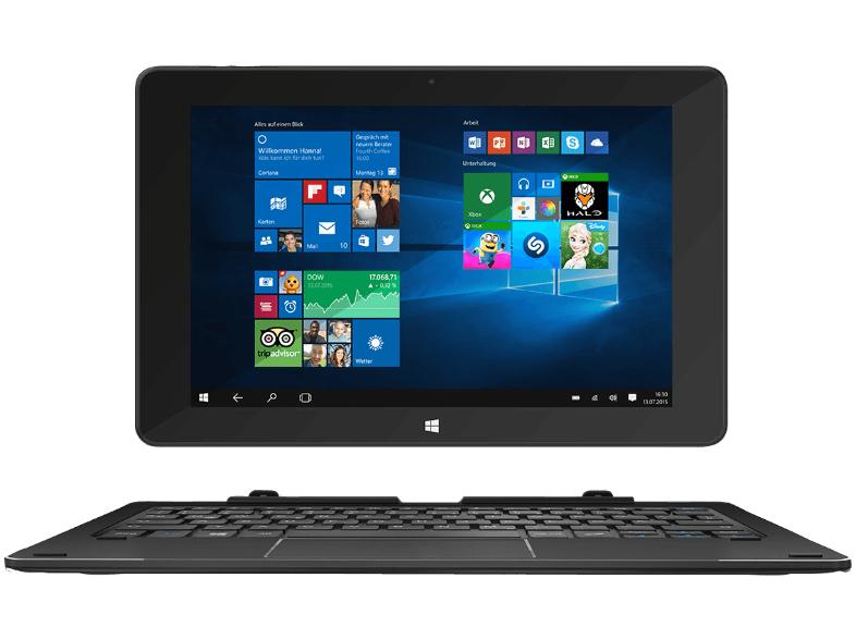 [Saturn] TREKSTOR SurfTab duo W1 Volks-Tablet WiFi, Convertible mit 10.1 Zoll, 32 GB Speicher, 2 GB RAM, Windows 10, Schwarz inc. Office 365 für 159,30€ bei PayPal Zahlung