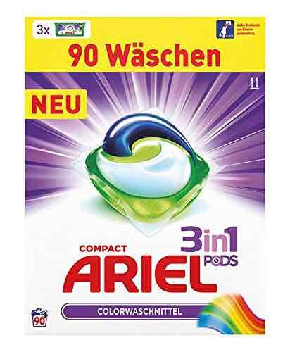Ariel 3 in 1 Pods Vollwaschmittel, 1er Pack (1 x 90 Waschladungen) 13cent/stck [prime des Tages amazon]