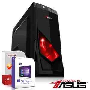 Gaming PC System Powered by ASUS GTX 1050 TI 128 SSD 16 GB FX 4300 Win 7/10