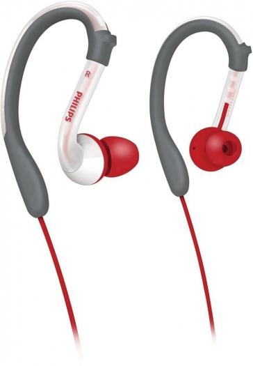 [Digitalo] Philips Sport Kopfhörer In Ear Wasserabweisend Grau, Rot, Weiß