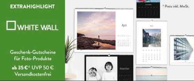 WhiteWall.de - Gutscheine bei [briends4friends.de] 50€ für 35€, 100€ für 70€, 200€ für 140€, 300€ für 210€