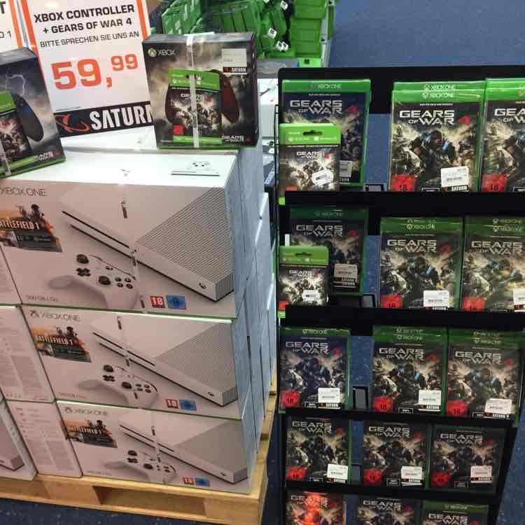 Xbox One gears of war 4 Key 22€ oder gears Controller mit Code 59,99€ Lokal Saturn Wuppertal