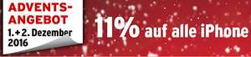 [SCHWEIZ] Interdiscount: 11% auf alle iPhones (Advents-Angebot)