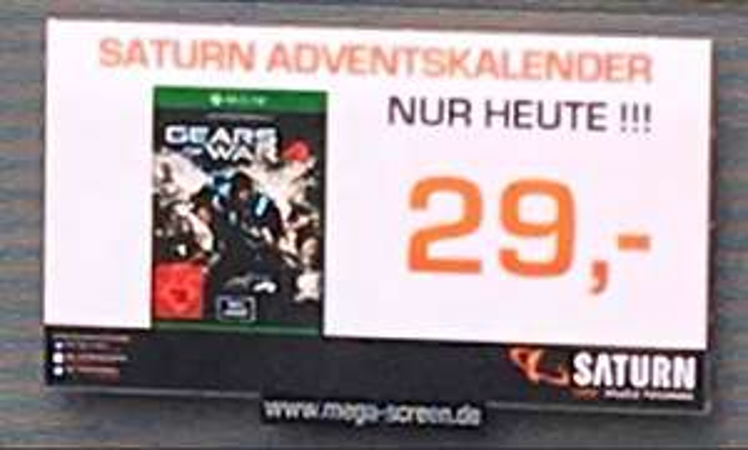 [Lokal] Saturn Wuppertal Adventskalender - Gears of War 4 für XBox One