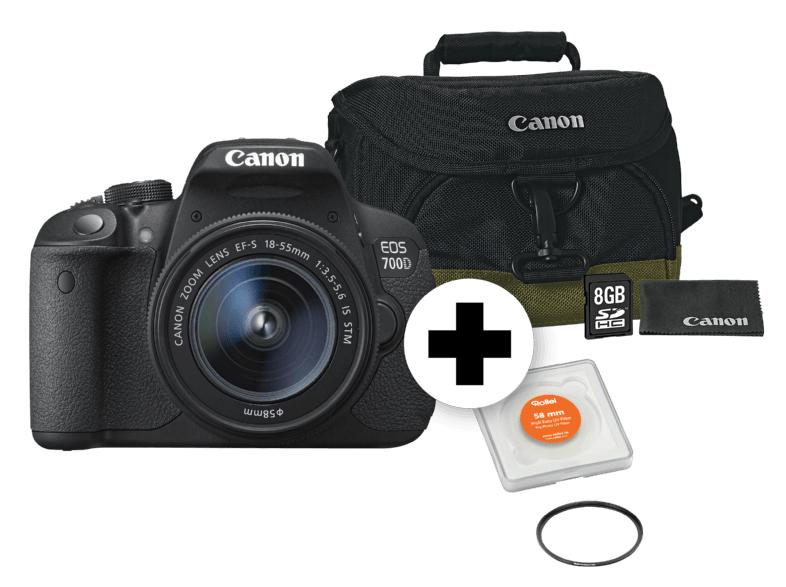 Canon Eos 700d inkl. 18 - 55 mm, Objektiv, Tasche und Speicherkarte