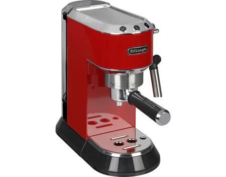 DeLonghi EC 680 Dedica Espressomaschine / Siebträgermaschine (1450 Watt, 15 bar) - rot/schwarz/silber - 128,11 €