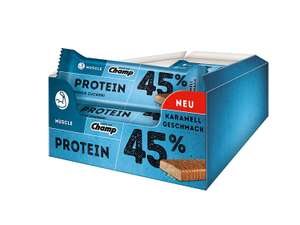 [Amazon] Champ Muscle 45% Protein Bar, Karamell (24 x 45 g) für 8,95€