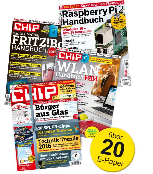 3 Monate CHIP Technik-Flatrate XL kostenlos (endet automatisch)