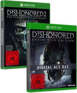 (Gamestop) Dishonored 2 Limited Edition inkl. Dishonored 1 + Sunset Overdrive (Xbox One) für 39,99€