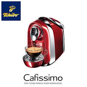 TCHIBO Cafissimo COMPACT Kaffee Kapselmaschine 15 bar 1,2L Wassertank rot NEU