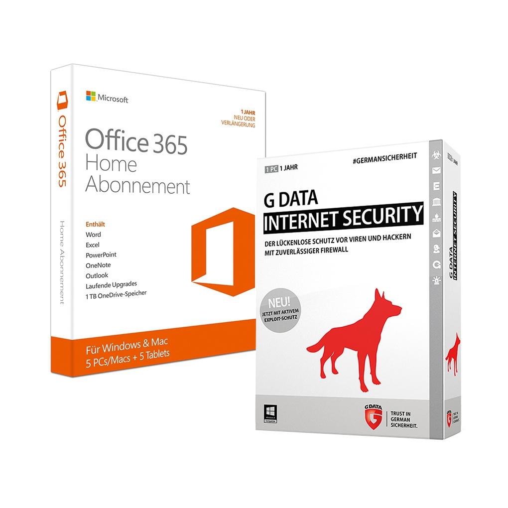 [NBB]Microsoft Office 365 Home [5PC und/oder Mac // 1 Jahr] inkl. G Data Internet Security [1 Gerät - 1 Jahr - Vollversion]