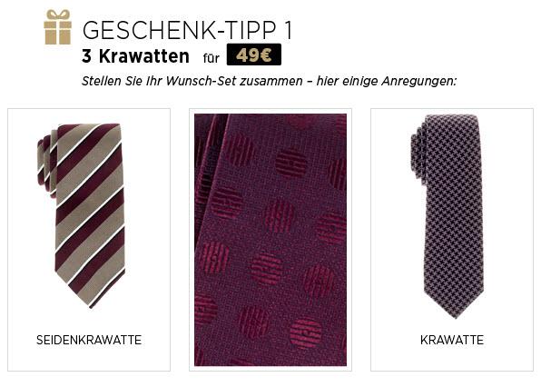 3 eterna Krawatten für 49 Euro + weitere Aktionen