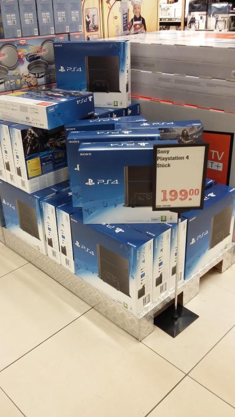 [Lokal?] (alte) PS4 500 GB für 199€ REWE Center Heppenheim