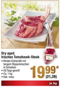 [METRO] Irisches Dry Aged Beef Tomahawk-Steak ab 08.12.