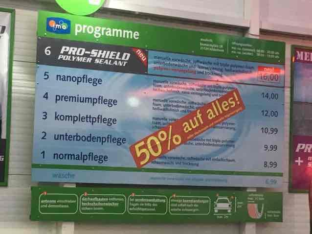 [lokal] 50% an der IMO-Waschstraße Hildesheim