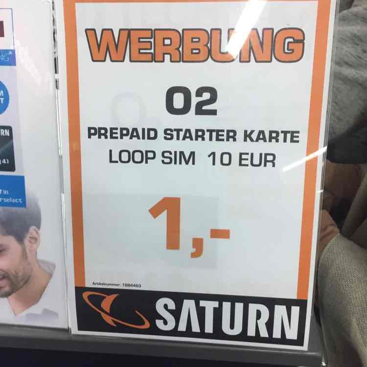 O2 Prepaid Sim 1€ - [Lokal- Saturn Berlin Wedding]