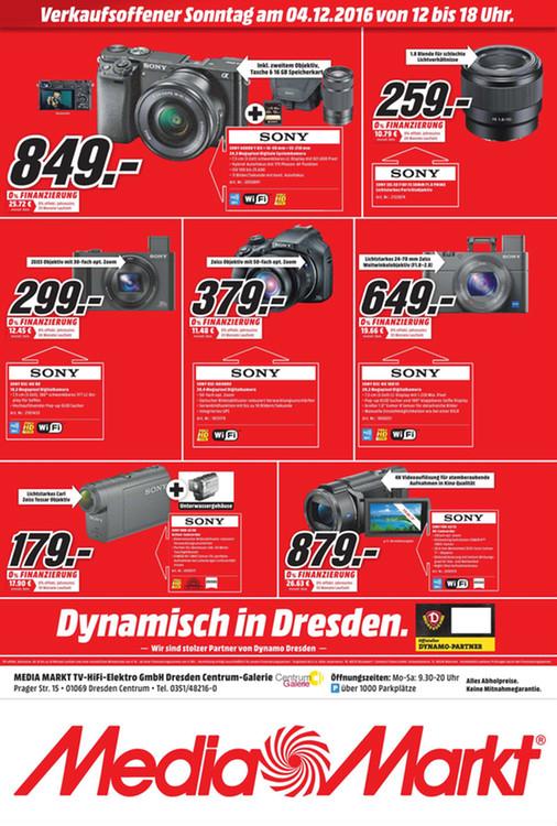 [Lokal Dresden] Sony Cyber-shot DSC-HX80 für 299,00 @ MediaMarkt DD Centrum Galerie am 04.12.