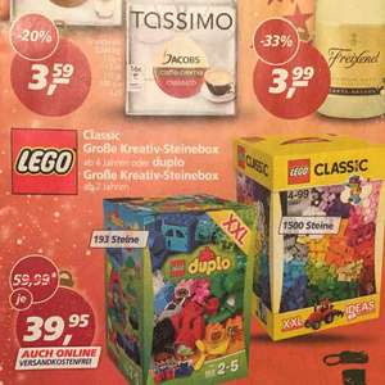 33,3% Ersparnis: Lego Classic: Große Kreativ-Steinebox On- und Offline