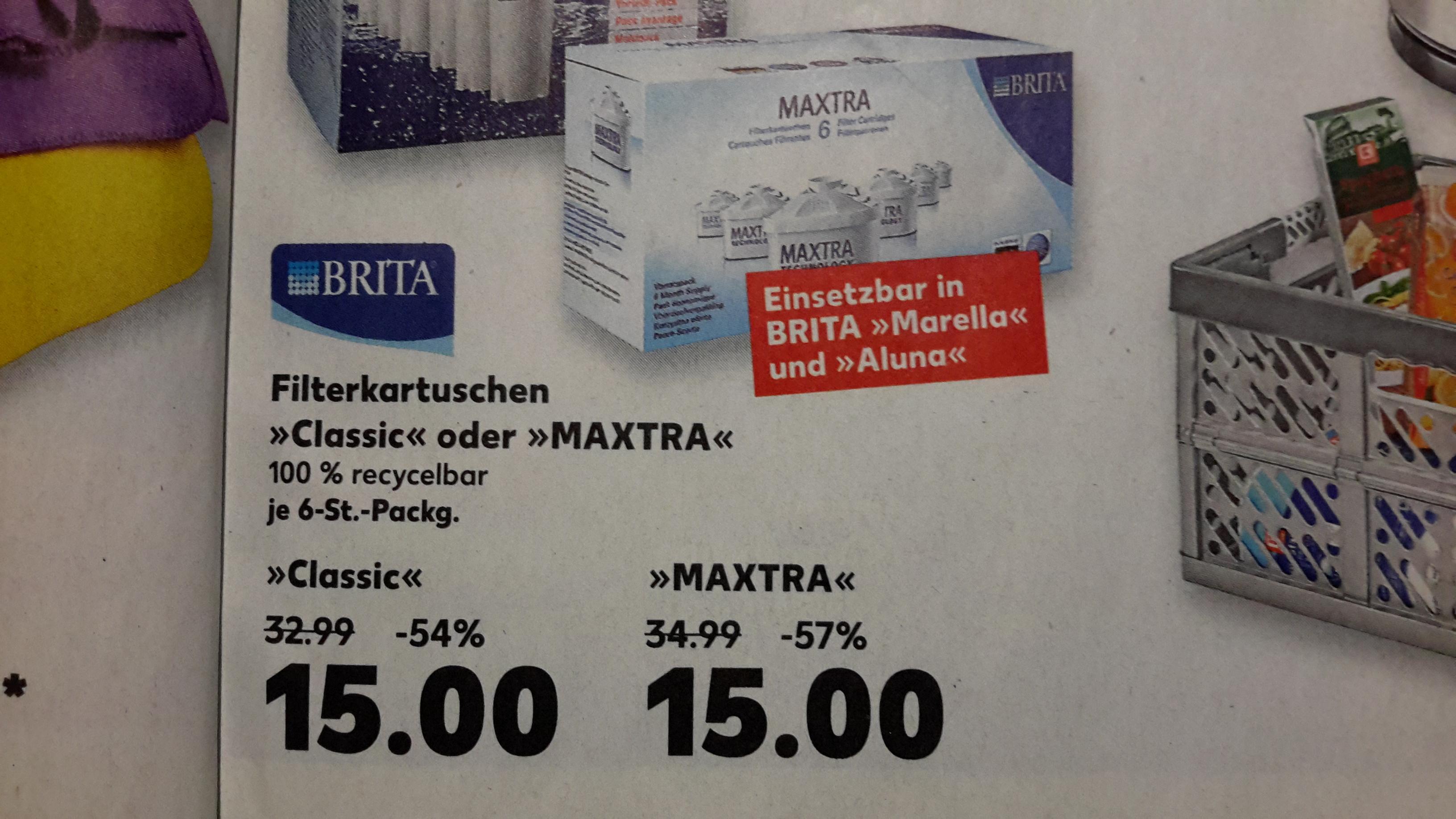 [Kaufland Königs Wusterhausen offline] 6 Brita Maxtra Filterkartuschen
