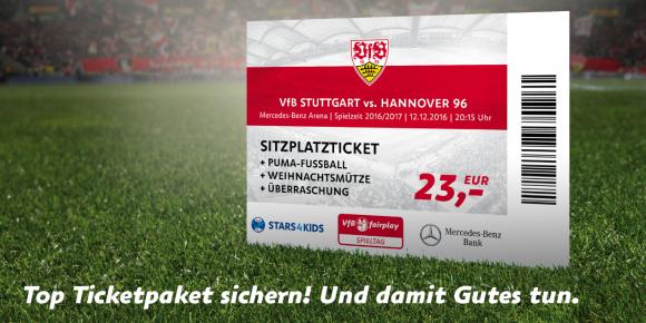VfB-H96 Ticket + Puma Fußball + Weihnachtsmütze + Überraschung