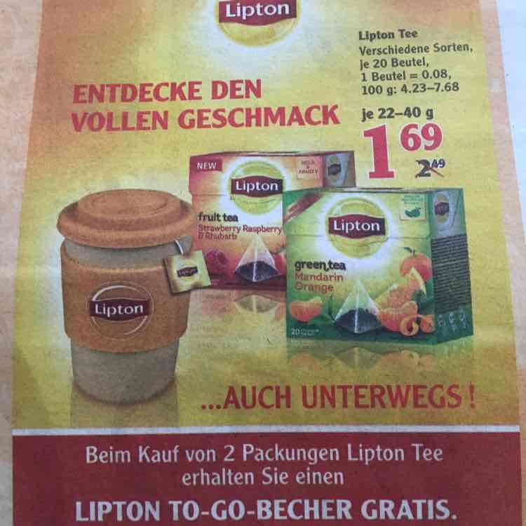LIPTON Tee (versch. Sorten) - Globus evtl. bundesweit