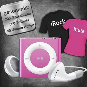 re:Store eröffnet im Breuningerland Ludwigsburg  und verschenkt 200 iPod shuffle, 500 Apple-Style T-Shirts und 50 iPhone Hüllen
