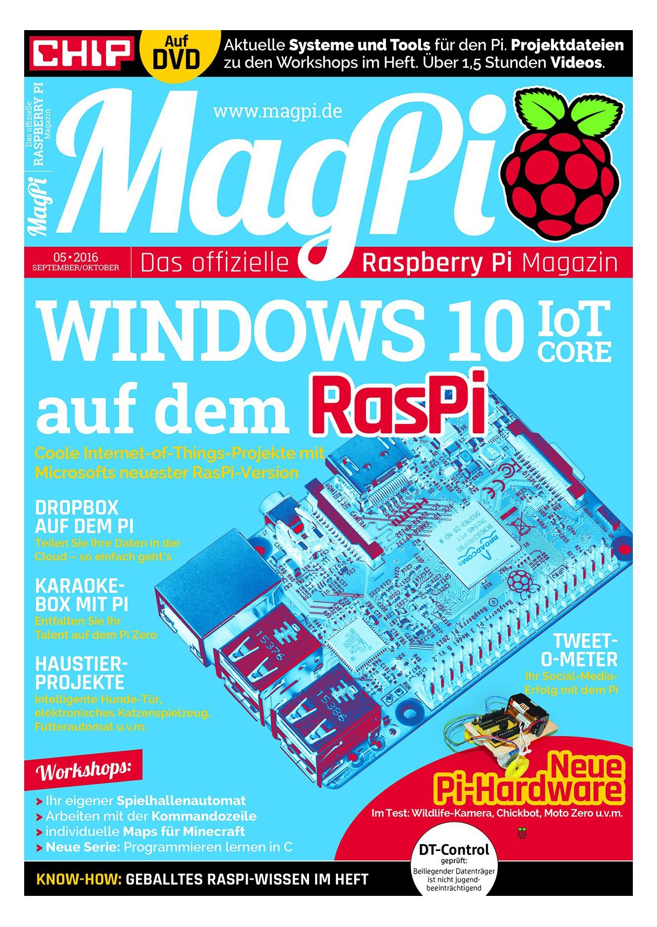 Chip Adventskalender: Kostenlose [PDF] Sonderausgabe des Magazins MagPi
