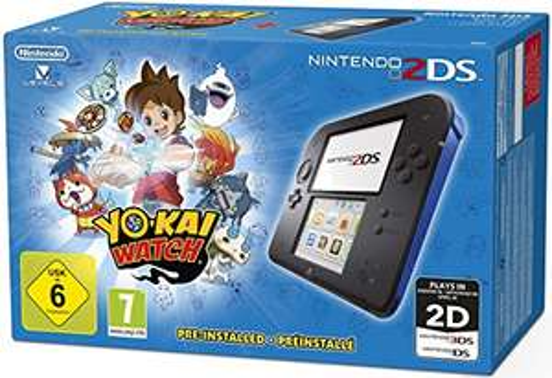 [amazon] Nintendo 2DS - Konsole (blau) inkl. YO-KAI WATCH (vorinstalliert)