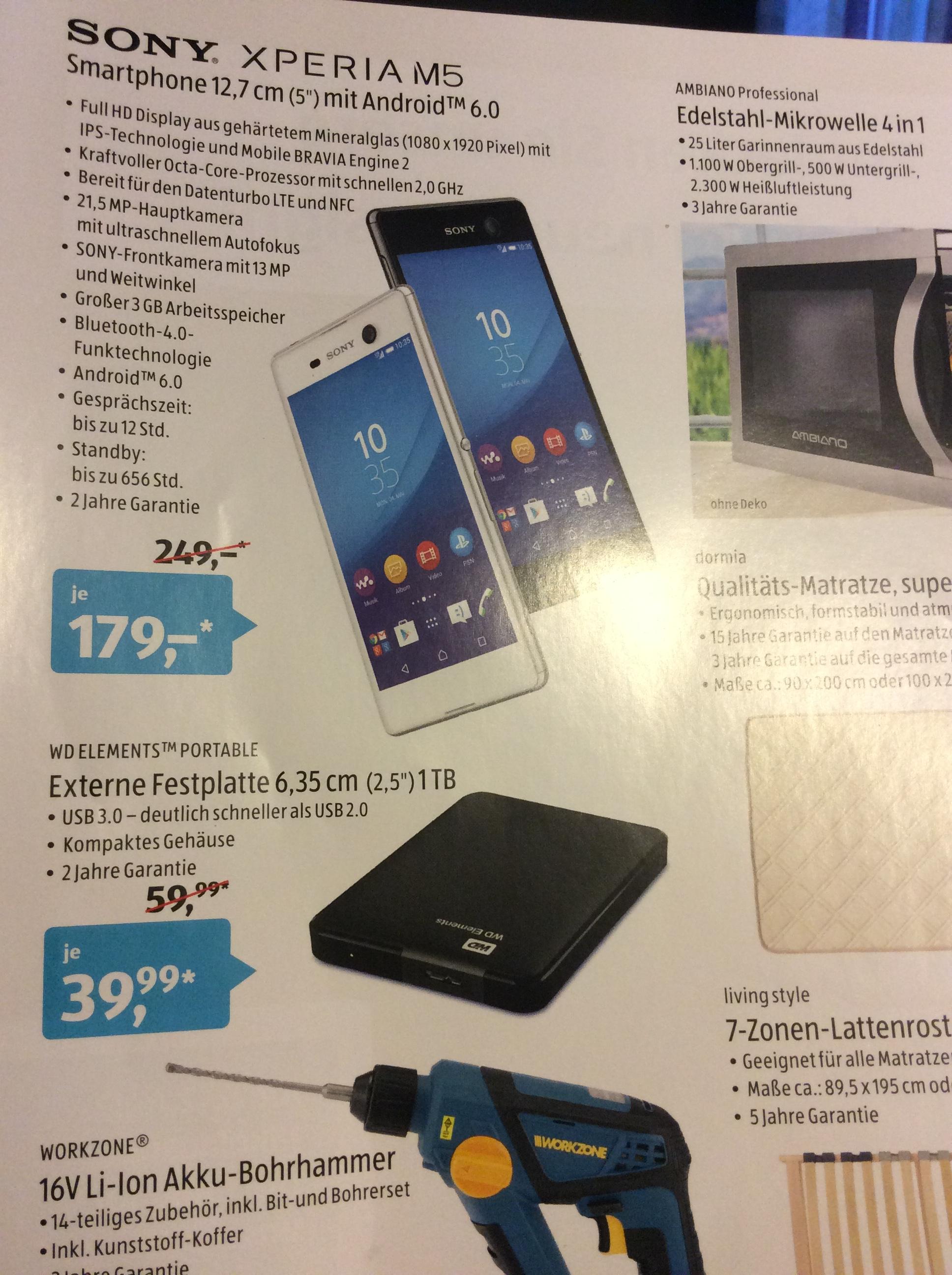 (Lokal, Ebersbach an der Fils) Sony XPERIA M 5 für 179 Euro