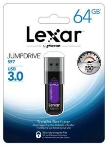 [amazon] [Media Markt] [ebay] Lexar JumpDrive S57 - 64GB USB 3.0 für 10,00€