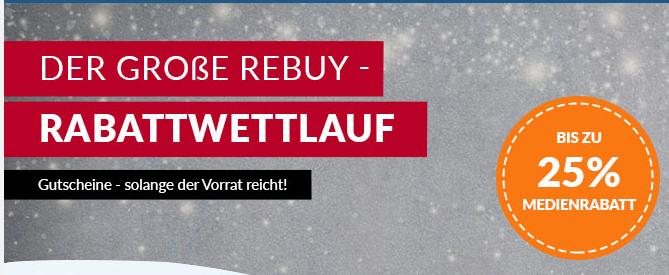 reBuy Rabattrennen mit 10 - 25 % Rabattcodes auf alle Medien