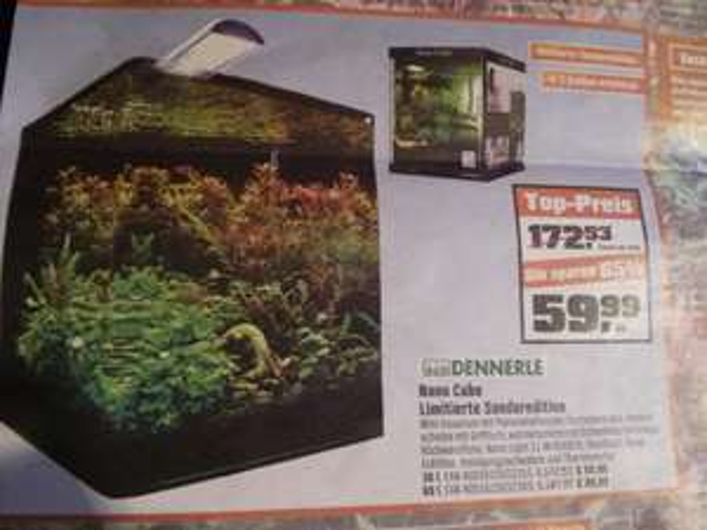 [Lokal Franken] OBI - Dennerle Nano Cube Basic 30l für 59,99€