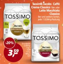 [Real] 4 Packungen Tassimo Jacobs T-Discs abzüglich Coupies für 12,36 Euro - 3,09 Euro/Packung