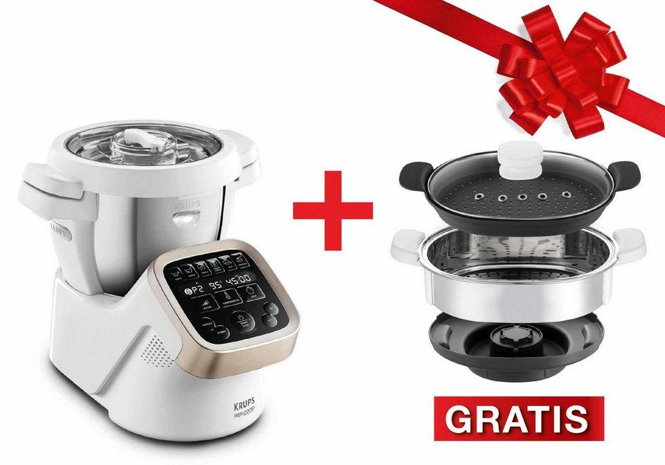 Krups Multifunktions-Küchenmaschine, HP5031.XMAS Prep&Cook,inkl. Dampfgaraufsatz + 100€ Gutschein