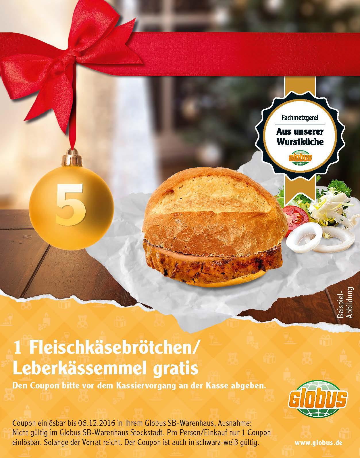 [Globus Adventskalender] Fleischkäse-Brötchen gratis