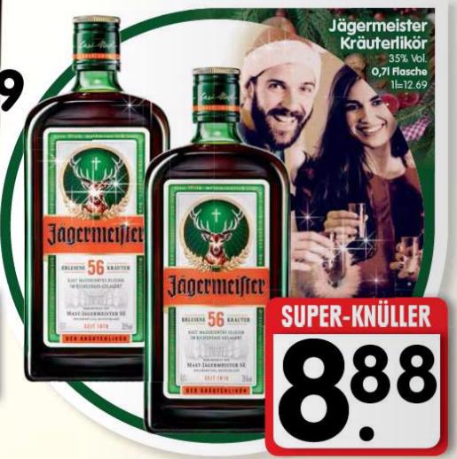 [EDEKA Südbayern] Jägermeister 0,7L für 8,88€