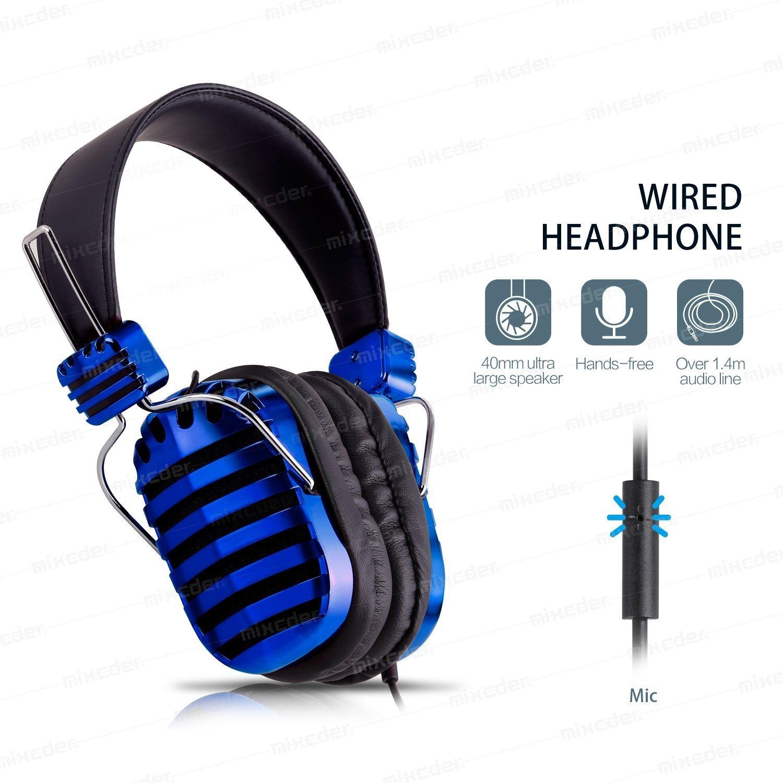 Over-Ear Kopfhörer + Mikrofon mit Kabel für nur 5€ (bei Amazon.de)