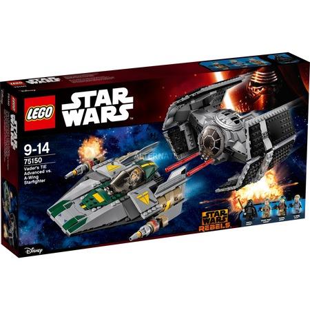 Lego Star Wars - Vader's TIE Advanced vs. A-Wing Starfighter (75150) @zackzack 59,90€