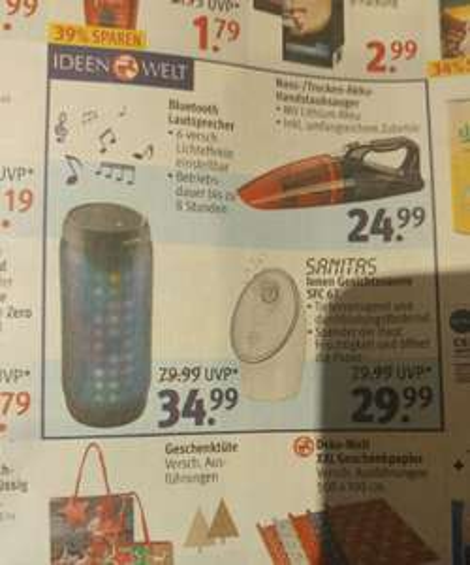 Denver BTL-60 Bluetooth Lautsprecher mit LED bei Rossmann für 34.99€