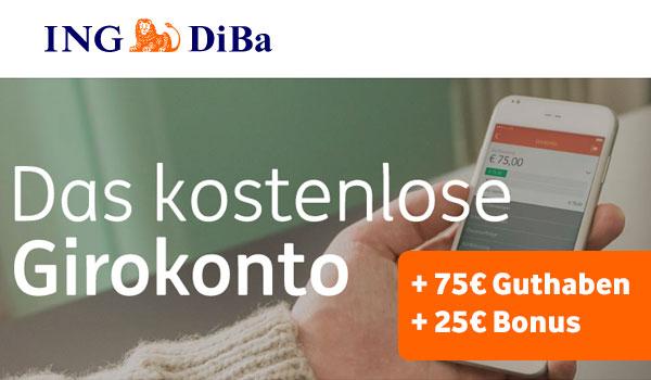 [ING Diba AT] Girokonto eröffnen und 75€ Guthaben + 25€ Amazon Gutschein