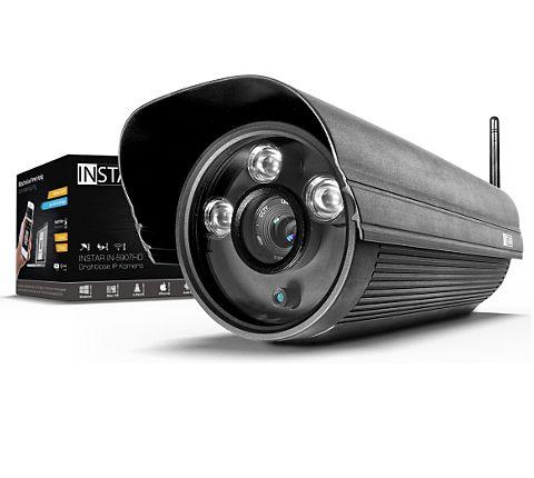 INSTAR IN-5907HD Wlan IP Kamera / HD Sicherheitskamera für Außen / IP Cam mit LAN & Wlan / Wifi für Outdoor (3 HighPower IR LEDs, Infrarot Nachtsicht, Wetterfest, SD Karte, Bewegungserkennung, Aufnahme, WDR) schwarz [GartenXXL]