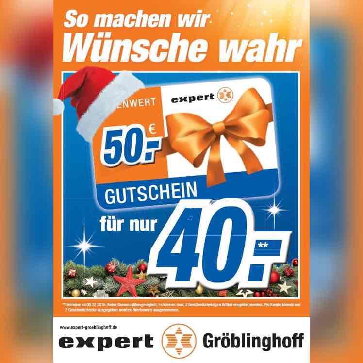 [Abgelaufen] 50€ Gutschein für 40€ EXPERT - entspricht 20% Rabatt auf alles