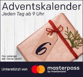 Rakuten Adventskalender (bis 11.12) - Mittwoch Teufel Conso 35 Mk3 für 333€, Freitag wieder 30€ MasterPass Gutschein (MBW 80€, ab 9Uhr),