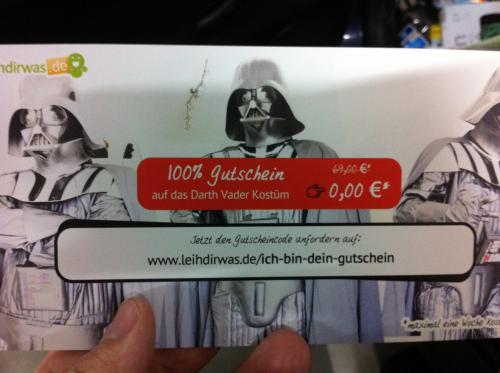 Darth Vader Premium Kostüm fast umsonst leihen
