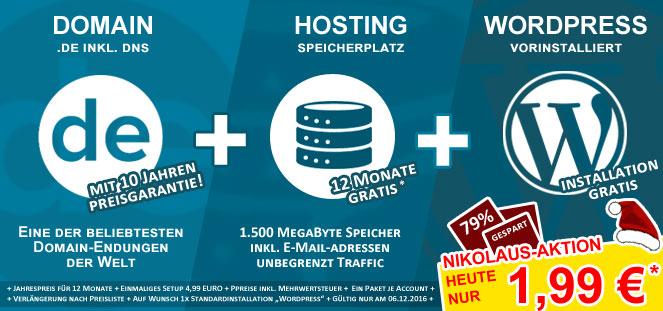 [do.de Aktion]: .DE Domain für dauerhaft 1,99€ + Webspace 4,99€ / Jahr + Wordpress