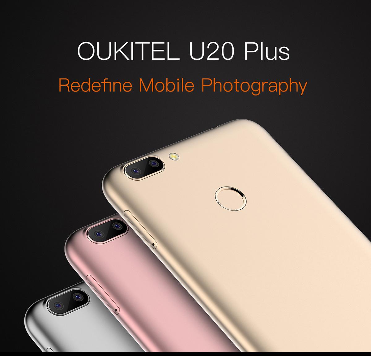 Oukitel U20 Plus Dual-Kamera, LTE mit band 20, 5,5 Zoll (Gearbest-China)