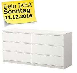 lokal ikea essen malm kommode mit 6 schubladen in wei f r 99 statt 155 am verkaufsoffenen. Black Bedroom Furniture Sets. Home Design Ideas