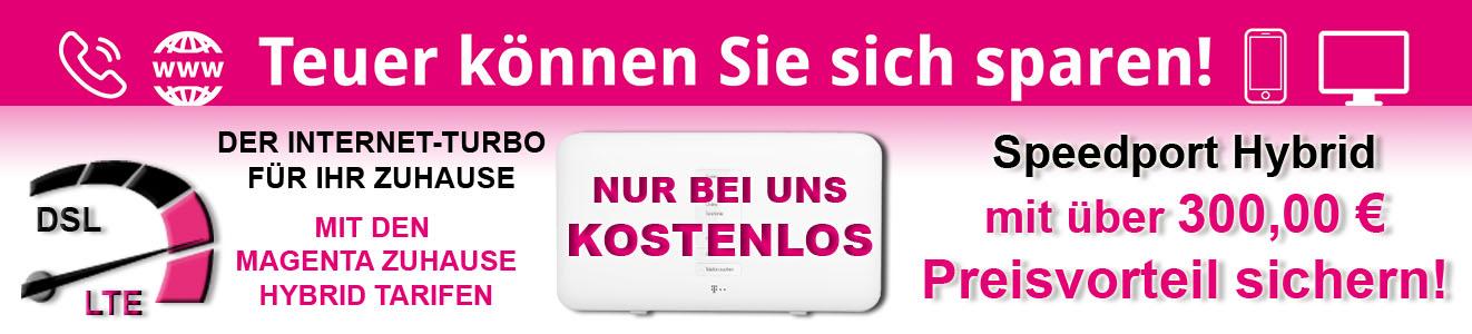 Telekom Magenta Hybrid Tarife mit kostenlosem Speedport Hybrid im Wert von über 300,00 Euro