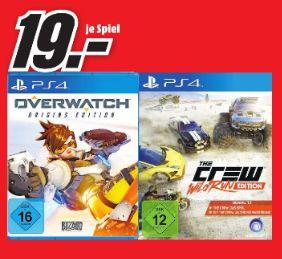 [Lokal Mediamarkt Velbert] Overwatch - Origins Edition - (PlayStation 4) und The Crew: Wild Run Edition (PS4) für je 19,-€